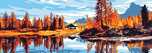Autumn Lake - A Collection d'Art Tapestry Canvas