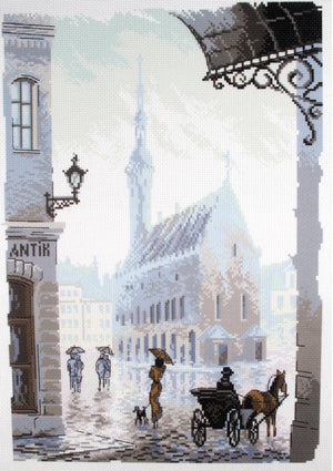 Old Town - Pre-Printed on Aida from Collection d'Art