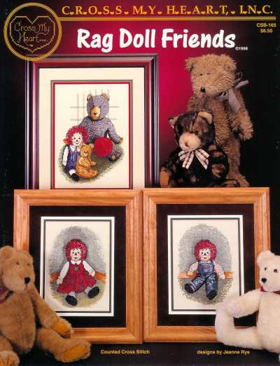 Rag Doll Friends - A Cross My Heart cross stitch Booklet