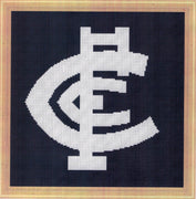Carlton Blues AFL 2020 logo Cross Stitch Design