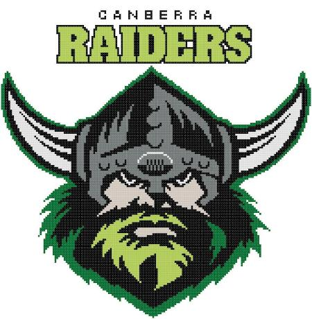 Canberra Raiders NRL Logo Cross Stitch Design - stitchaphoto
