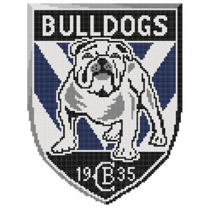 Canterbury Bulldogs NRL Logo Cross Stitch Design - stitchaphoto
