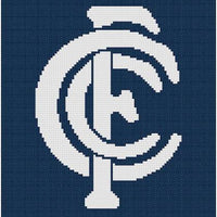 Carlton Blues AFL Cross Stitch Design - stitchaphoto