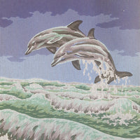 Dolphins - A Collection d'Art Tapestry Canvas