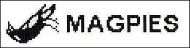 Collingwood Magpies AFL Logo Cross Stitch Design for a Bookmark - stitchaphoto
