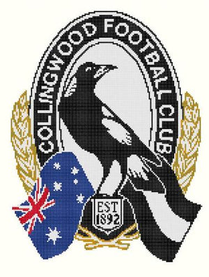 Collingwood Magpies AFL Cross Stitch Design - stitchaphoto