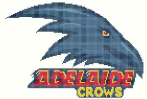 Adelaide Crows AFL Cross Stitch Design - stitchaphoto