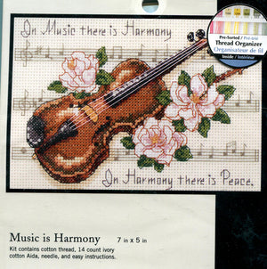 Music is Harmony - a Dimensions counted cross stitch kit