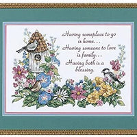 Flowery Verse - a Dimensions stamped cross stitch kit
