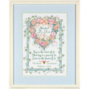United In Love Wedding Record - a Dimensions counted cross stitch kit