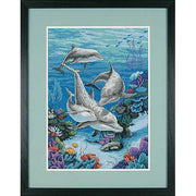 The Dolphins Domain - a Dimensions counted cross stitch kit