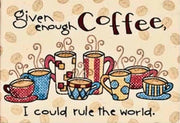 Enough Coffee - a Dimensions stamped cross stitch kit