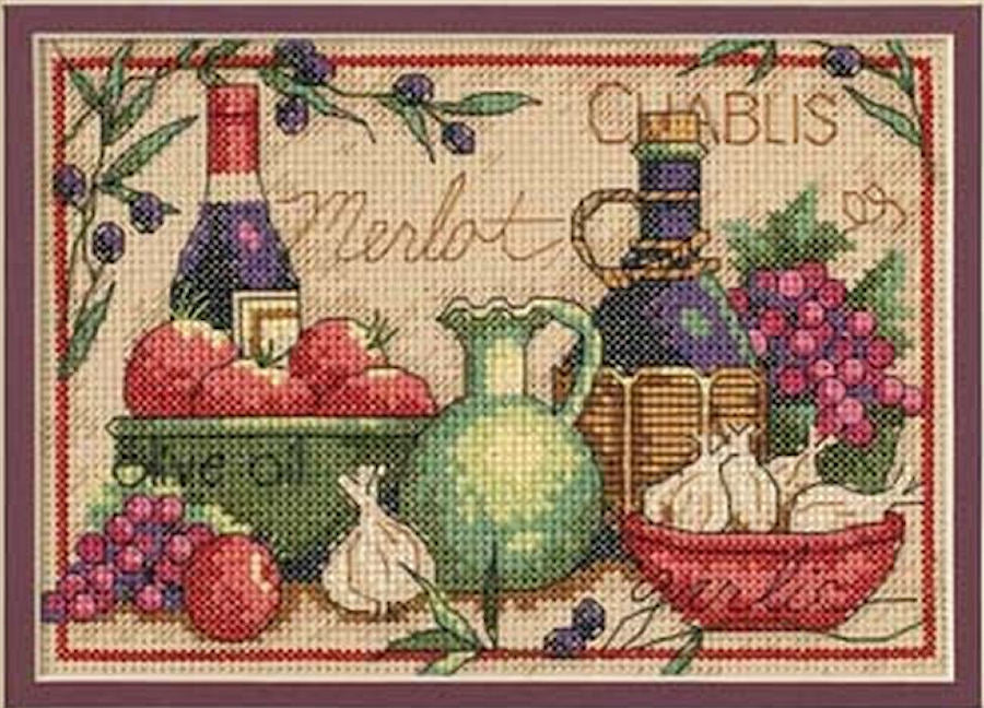 Mediterranean Flavors - a Dimensions counted cross stitch kit