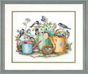 Watering Cans - a Dimensions Stamped cross stitch kit