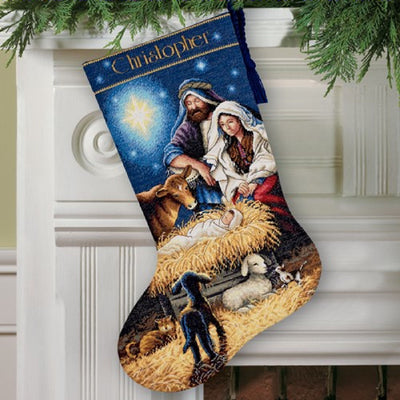 Holy Night Christmas Stocking - a Dimensions cross stitch kit
