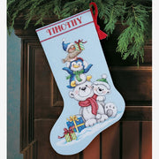 Stack of Critters Christmas Stocking - a Dimensions cross stitch kit