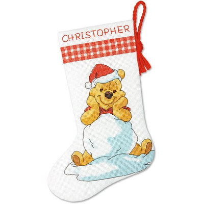 Pooh Christmas Stocking - a Dimensions cross stitch kit