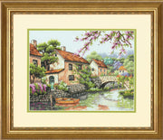 Village Canal - a Dimensions counted cross stitch kit