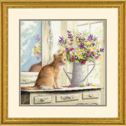 Kitten in the Window - a Dimensions counted cross stitch kit