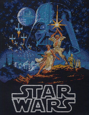 Luke and Princess Leia - a Dimensions counted cross stitch kit