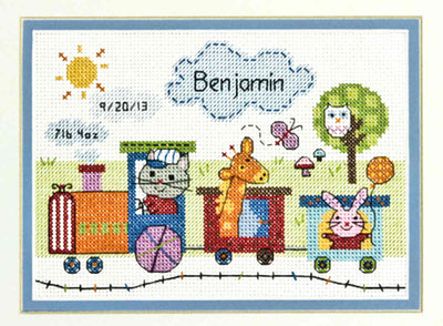 Train Birth Record - a Dimensions counted cross stitch kit