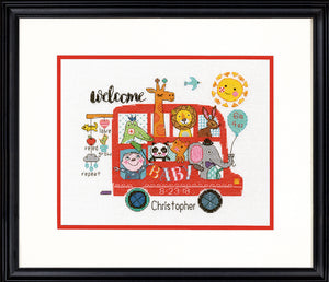 Baby On Board Birth Record - a Dimensions counted cross stitch kit