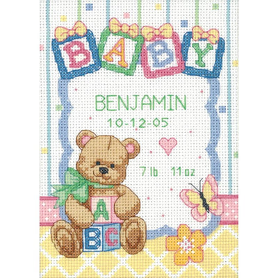 Baby Blocks Birth Record - a Dimensions counted cross stitch kit