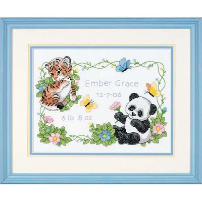 Baby Animals Birth Record - a Dimensions stamped cross stitch kit