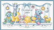 Baby Friends Birth Record - a Dimensions counted cross stitch kit