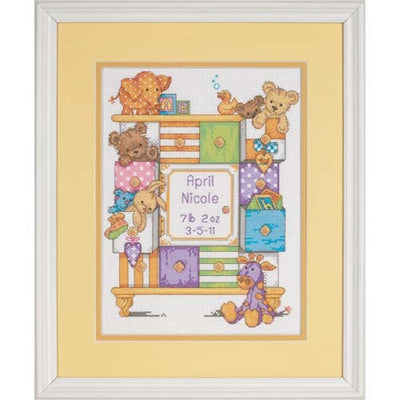 Baby Drawers Birth Record - a Dimensions counted cross stitch kit