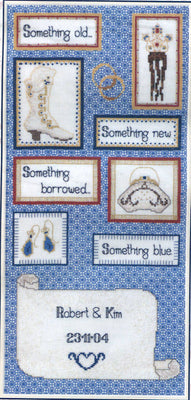 Something Blue - A DMC cross stitch kit