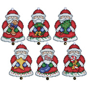 Christmas Santas Tree Decorations - Design Works plastic canvas tree hanger Kits