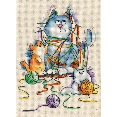 Yarn Cats - a Design Works counted cross stitch kit