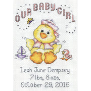 Baby Chick (Girl) - Birth Announcer - a Design Works counted cross stitch kit