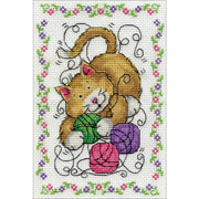 Yarn Cat - a Design Works counted cross stitch kit