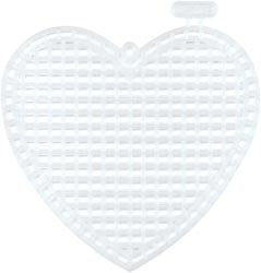 Plastic Canvas - 7 Count - 3& Heart Shape - Pkt of 10