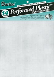 Plastic Canvas 14 count Clear pack of 2 sheets