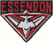 Essendon Bombers AFL Logo Cross Stitch Design - stitchaphoto
