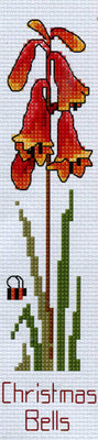 Christmas Bells Bookmark - A Country Threads Cross Stitch Kit