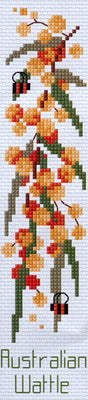 Golden Wattle Bookmark- A Country Threads Cross Stitch Kit