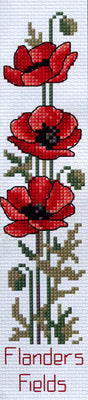 Flanders Poppies Bookmark- A Country Threads Cross Stitch Kit