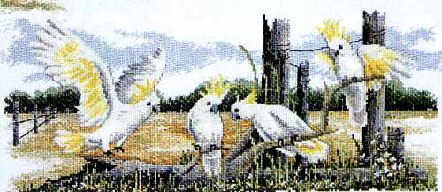White Cockatoos - A Country Threads Cross Stitch Chart