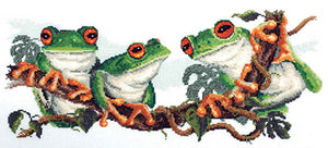Green Frogs - A Country Threads Cross Stitch Chart Booklet