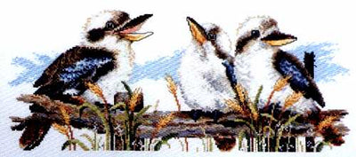 Kookaburra Line-up  - A Country Threads cross stitch chart
