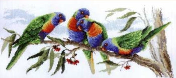 Colourful Lorikeets - A Country Threads Cross Stitch Chart