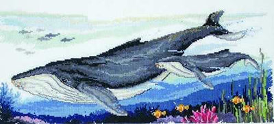Humpback Whales - A Country Threads cross stitch chart