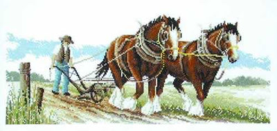 Clydesdales - A Country Threads counted cross stitch chart