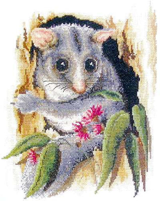 Peek-a-Boo Possum - A Country Threads Cross Stitch Chart