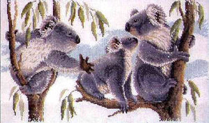 Koalas - A counted cross stitch chart from Country Threads