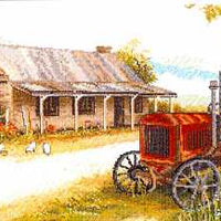 Old Tractor Cottage - A Country Threads Cross Stitch Chart Booklet